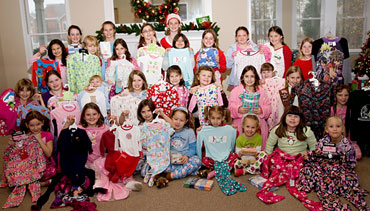 Local Girl Scouts donate pajamas to Gracie's Closet