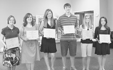 Outstanding Middle School Students Recognized